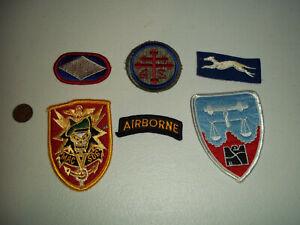 WWII WW2 US ARMY PATCH LOT