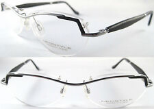 RARE & STYLISH NEOSTYLE GENTS OPTICALFRAME WITH WOODEN TEMPLES / SILVER BLACK