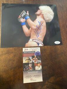 KHABIB NURMAGOMEDOV AUTOGRAPHED 8x10 PHoTO JSA COA MMA UFC signed photo CHAMPION
