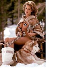 Karen McDougal Trump Affair Playmate Dog Sexy Snow Boots Playboy 8x10 Photo WOW!
