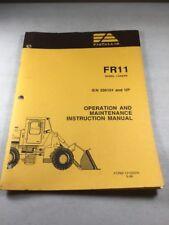 Fiat Allis Fr11 Wheel Loader Operation Amp Maintenance Manual