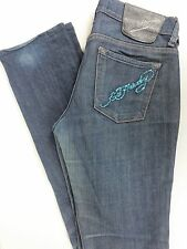 Ed Hardy Distressed Jeans Straight Leg By Christian Audigier Women Size 28