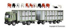Kibri H0 12248 MAN HD Köpf Viehtransporter mit Anhänger und 12 Kühen NEU/OVP
