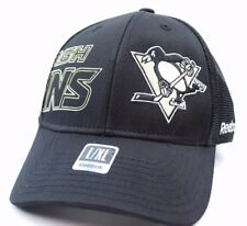 8f774ca5f Pittsburgh Penguins Reebok MO86Z NHL Mesh Back Stretch Fit Hockey Cap Hat  L/XL