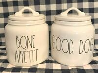 """SHIPS FREE Rae Dunn Canister """"YOU CHOOSE"""" GOOD DOG or BONE APPETIT WITH LID"""