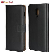 Genuine Leather Wallet Flip Case Cover For OnePlus 6T
