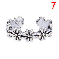 A Variety Of Styles Plated Heart Peace Vintage Toe Rings Adjustable For Women W