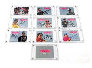 1992 Traks Racing Autographs Set NASCAR Racing Card Set (10) Earnhardt Petty