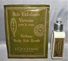 2 Pc Lot LOCCITANE VERBENA Body Lotion & Rare VERBENA Body Salt Scrub 1 oz each
