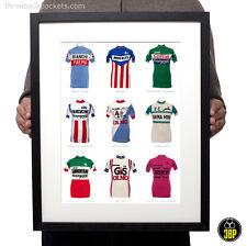 Iconic Italian Cycling Jersey Poster Print (Bianchi, Brooklyn, Sanson, Alfa Lum)