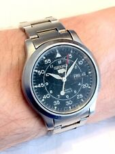 Vintage Seiko 5 Automatic 7S26 06G4 Military Dial Mens Watch ft. Steel Bracelet