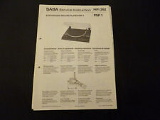 Original Service Manual SABA PSP 1