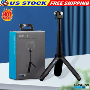GoPro Shorty Mini Extension Pole Tripod Fit For All GoPro Cameras -Black