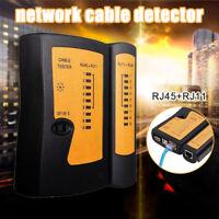 Portable Testeur de câble réseau RJ45 RJ45 RJ11 RJ12 CAT5 UTP Testeur câble LAn
