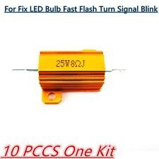 10pc/set AUTO 25w Carico Resistore 8-ohm Lampadina LED Fix Fast HYPER Flash turn signal