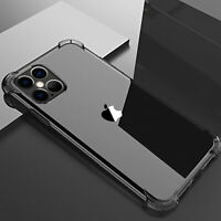 For iPhone 12 11 Pro Max mini XR 8 7 Plus Clear Slim Hard Shockproof Case Cover