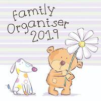 Teddy Bears Family Organiser ( Five Columns) Calendar 2019