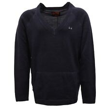 3544V maglione bimba GIRL SUN 68 blue wool sweater