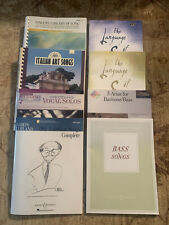 Lot Of 8 New Books For Low Voice Many With Cd Accompaniment
