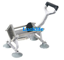 Manual French Fries Potato Chips Maker Fruit Vegetable Cutter with 3 Blades H