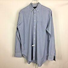 Dunhill Men's Dress Shirt Long Sleeve Blue Yellow Plaid Made in England Sz 16/35