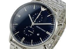 brand neu emporio armani chronograph edelstahl herren uhr ar1648