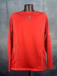 Men's Majestic Los Angeles Angels Red Performance On Field Practice Pullover NWT
