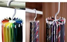 Rotating 20 Hooks Neck Ties Organizer Men  Tie Rack Hanger Holder HC