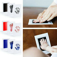 Baby Fußabdruck Handabdruck Set Stempel Hand Fuß Stempelkissen Abdrücke DE NEU
