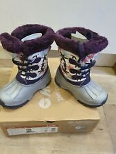 Girls Hi-tec Snow Boots. Size UK 9 EU28