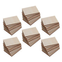 60pcs Plywood Sheets for Craft, Pyrography, DIY Wood Plaque Home Decor Signs