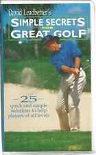 david leadbetter's simple secrets for great golf vhs Clam Shell very good
