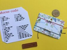 Personalised Letters For Him & Her  MORSE CODE bracelets Red Cord Chose Letters