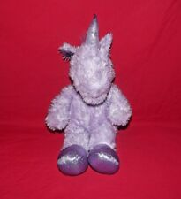 """Gorgeous Design A Bear Purple Unicorn Plush Soft Toy Approx 18"""" (BD)"""