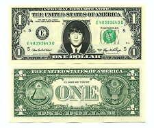 JOHN LENNON - VRAI BILLET de 1 DOLLAR US ! Collection The BEATLES