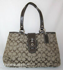 $348 COACH Soho Signature EW Tote Shoulder Bag Purse Handbag Sac Khaki New 18750