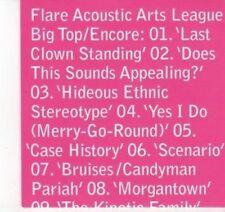 (DJ579) Flare Acoustic Arts League, Big Top / Encore - 2011 DJ CD