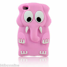 Baby Pink ELEPHANT Silicone Back Case for iPod Touch 4 - 4th Gen - FREE POST