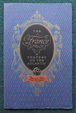 FRENCH LINE CGT SS FRANCE DULUXE ART DECO OCEAN LINER RARE BROCHURE C-1920'S
