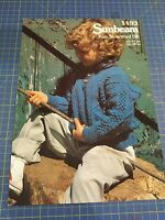 Sunbeam Child's Sweater with Button Up Neck Line Knitting Pattern 1193