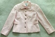 Sag Harbor size 4P Powder Pink Quilted Blazer Rounded Collar Lovely Print Euc!
