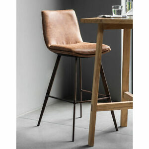 Gallery Palmer Brown Faux Leather Contemporary Design Bar Stool, 2 Pack