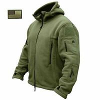 Tactical Recon Zip Up Fleece Jacket Army Hoodie Security Police Hoody Combat uk