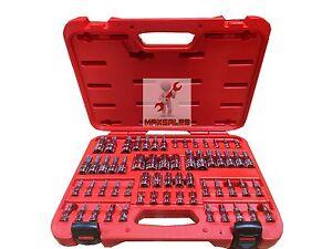 New 60Pc Master CR-V Star Socket Set Tool Bit Kit Tamper Proof