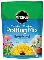 Miracle-Gro Moisture Control Potting Mix, 8-Quart - Pack of 2 bags