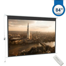 """84"""" 16:9 Projector Screen Electric Motorised Movies Screens Home Theater Support"""