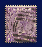 1867 SG104 6d Lilac (Hyphen) Plate 6 J75(1) EB Misperf Good Used Cat £175 cocx