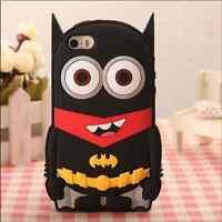 Batman Despicable Me Minion Silicone Apple iPhone/iPod Touch/Samsung S4/5/6 Case