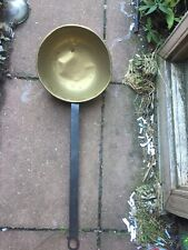 antique brass water dipper  pail ladle with long wooden handle With hook Dis