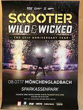 SCOOTER 2017 MÖNCHENGLADBACH -- Tour Poster - Concert Poster
